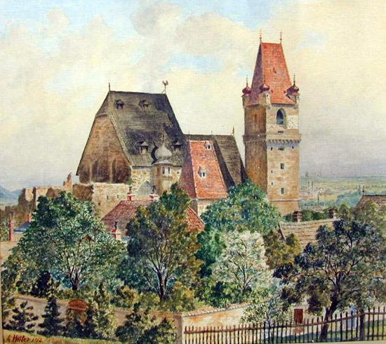 Ein Gemälde von Adolf