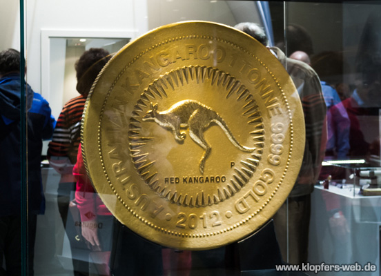 Wo kommt Geld her - 1-Tonne-Goldmünze
