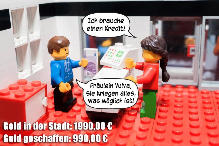 Wo kommt Geld her - 990 Euro als Kredit vergeben