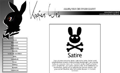 Klopfers Web mit dem 2005er Design