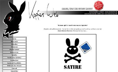 Klopfers Web mit dem 2009er Design