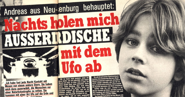 Andreas aus Neu-Isenburg behauptet: Nachts holen mich Außerirdische mit dem Ufo ab