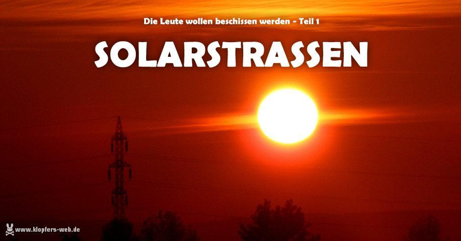 Solar-Radweg nun auch in Deutschland - und ich motze.