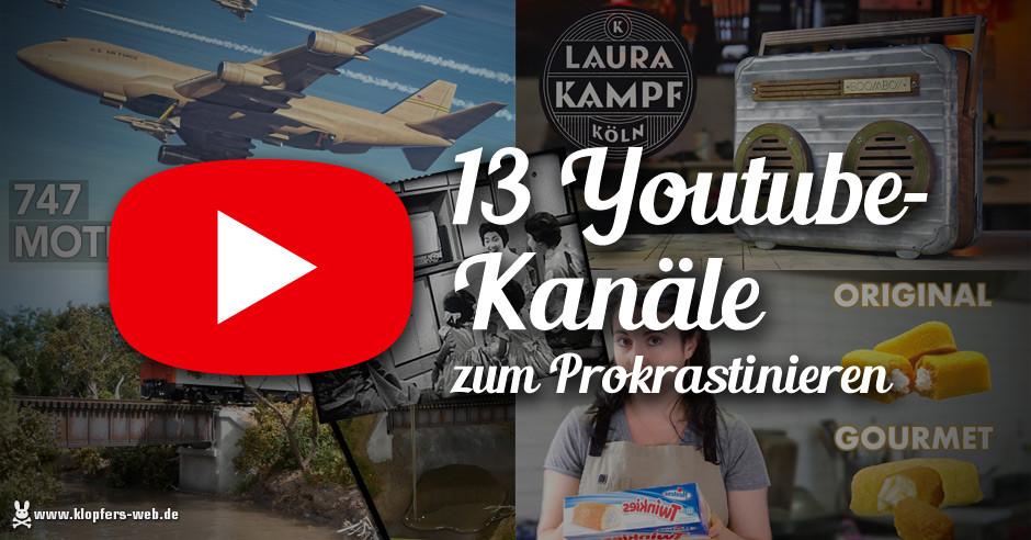 13 Youtube-Kanäle zum Prokrastinieren