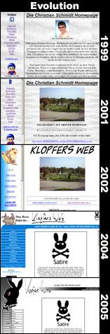 Evolution von Klopfers Web