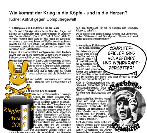 KWA für die Unterzeichner des Kölner Aufrufs