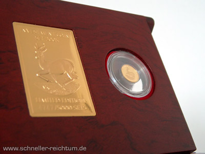 Liberianische Goldmünze